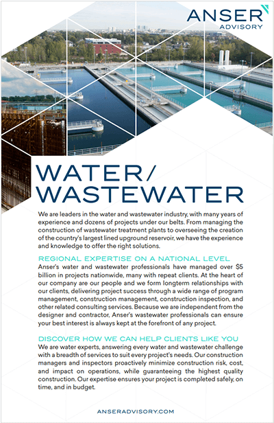 Water/Wastewater Brochure Cover